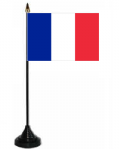 France Desk / Table Flag with plastic stand and base.